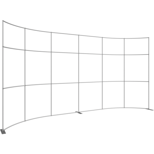 Formulate Master 20ft WH1 Horizontal Curve Fabric Backwall